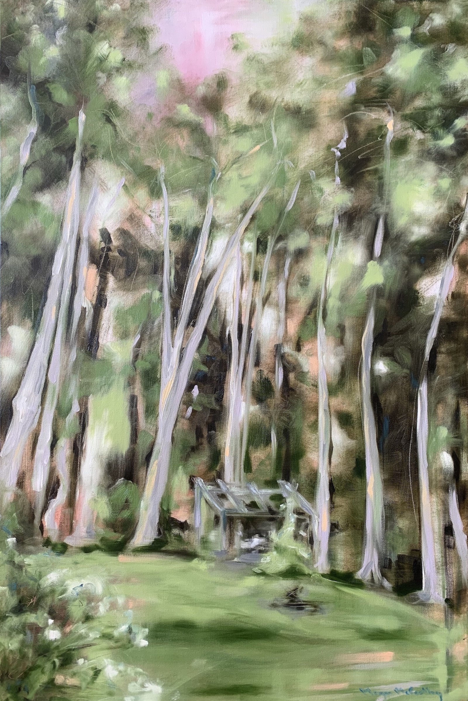Megan McCarthy - Serenity Lies Beneath the Boughs of the Pines