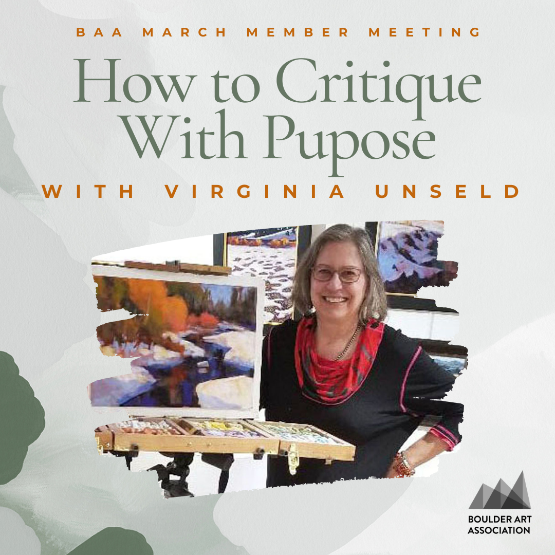 How to critique with purpose Virginia Unseld
