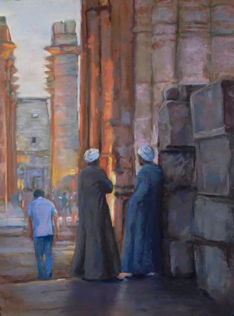 Acharya-Gretchen-Conversation at Twilight in Luxor