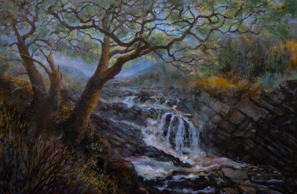 Acharya-gretchen-oil-Scottish-Waterfall
