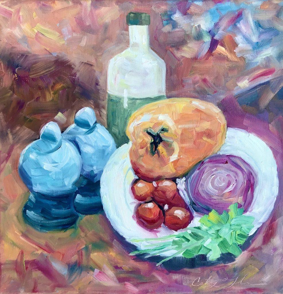 Faughnan-Cathy-Oil-Dinner-Prep