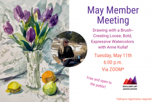 May Member Meeting Art Demo Anne Kullaf