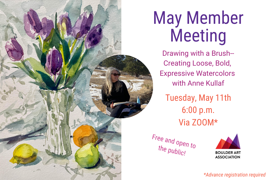May Member Meeting Art Demo Anne Kullaf
