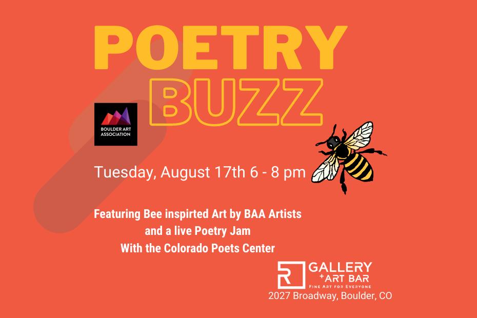 Poetry reading event in Boulder, Colorado