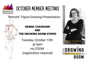 October 2021 Member Meeting Figure Drawing Denise Chaudhari